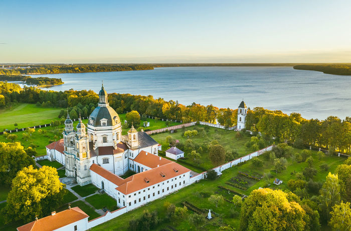 Pazaislis Monastery Drone  Aerial View Aerial Mavic 2 Mavic 2 Pro Europe Lietuva Autumn DJI X Eyeem Pazaislis Monastery Pazaislis Monestery Pažaislis Architecture Building Exterior Built Structure Place Of Worship Building Water Religion Belief High Angle View Nature Spirituality Sky No People Scenics - Nature Day Plant Dome Outdoors