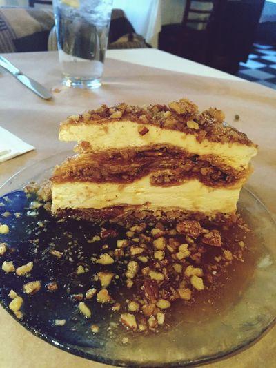 Famous baklava at Ziziki's. Delicious. Brunch Ziziki's Dallas