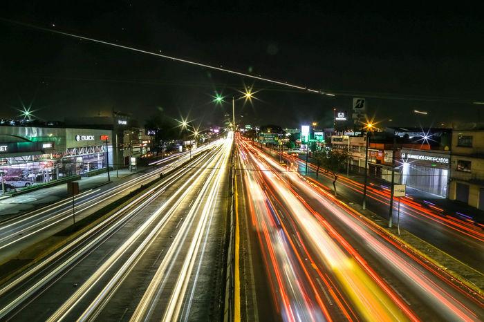 ExploreWhitUs Mexico City Mobility In Mega Cities Allianz City Illuminated Light Trail Long Exposure Motion Night Speed