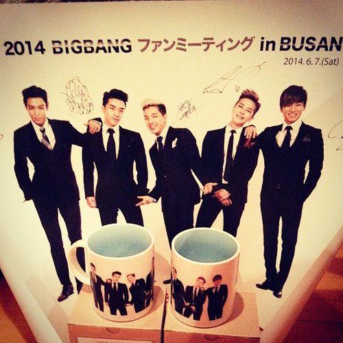 番長から頂いた?❤ Bigbang ファンミ 2014 Busan 番長ありありありがっとがっとこのマグでteaしなきゃ♡
