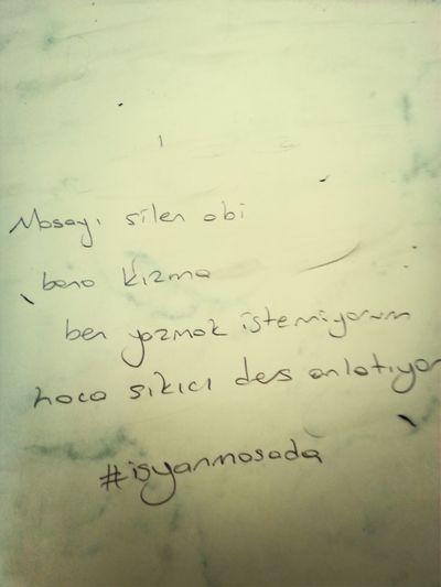 Ders Masa Isyan Hoca