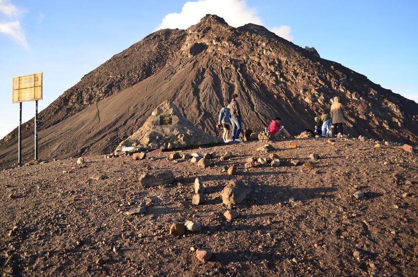 Last station before the summit at Mount Merapi Merapi Mount Merapi Volcano Rugged Terrain Jogjakarta Yogyakarta INDONESIA Jogja Backpacking