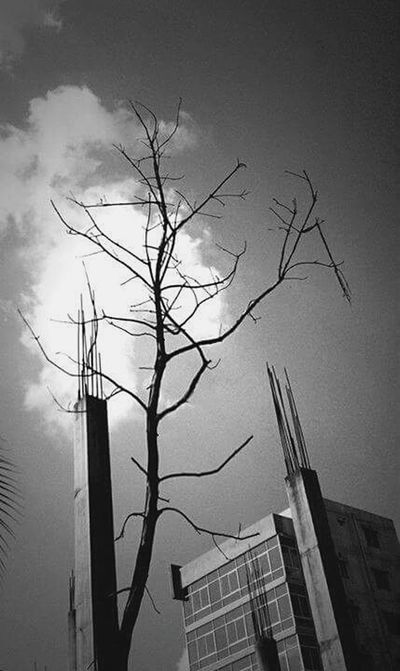 Black & White Mobile Photography Citylife Dhaka Summer