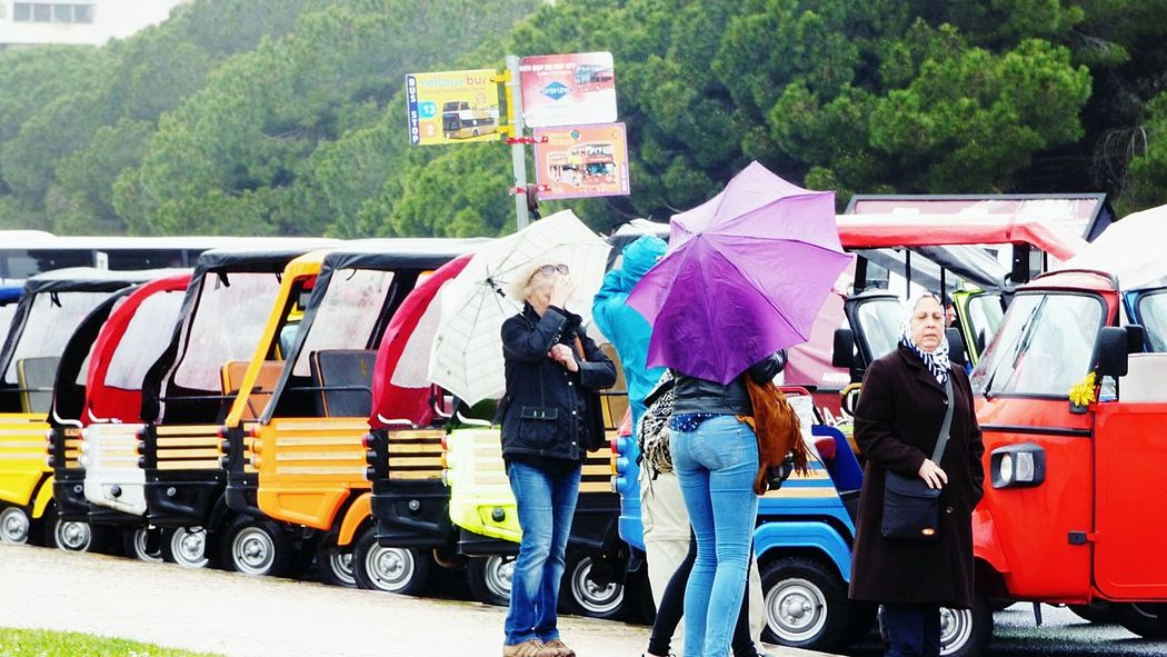 The Tourists Eye4photography  Rainy Day Tuk-tuk Public Transport Public Transportation Portugal People Watching The Week On EyeEm City Explorer Tuk Tuk City Transportation Rain Day Taking Photos People Unbrellas