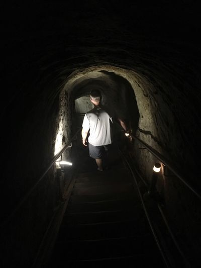 Underground Tunnel Underground Passage Tunnel View Stairway To  Underground Cave Ocean Darkness