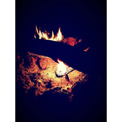 Nothing beats the soft glow of a fire. Reveille Camp Camping Fire instashot nocrop