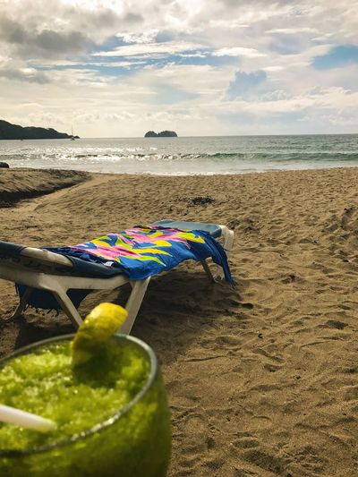 Done That. Beach Sand Shore Sea Water Nature Horizon Over Water Sky Outdoors No People Scenics Beauty In Nature Day Costa Rica Travelagent Jetsetter Travel Cloud - Sky Journey Beauty In Nature