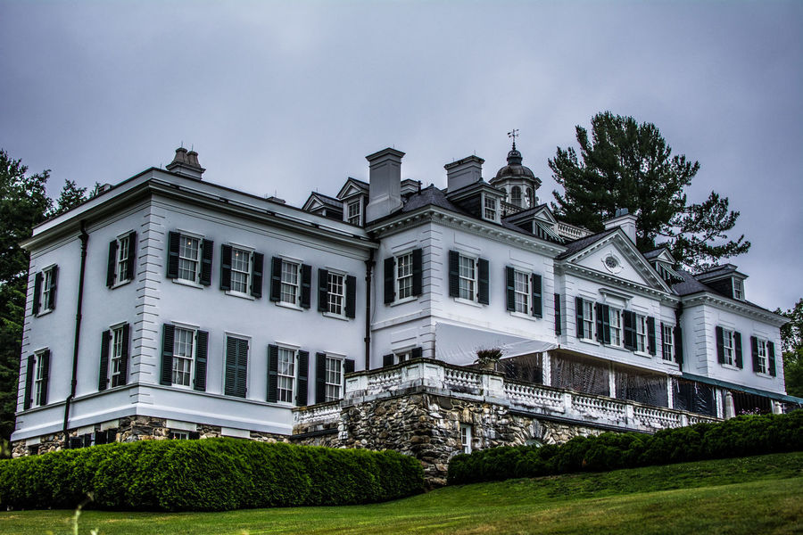 Architectural Column Architecture Building Exterior Built Structure Cloud Cloud - Sky Day Edith Wharton Estate Exterior Façade Grass Grassy Green Color Growth Lawn Lenox, MA Nature No People Outdoors Plant Sky Travel Destinations Tree The Mount