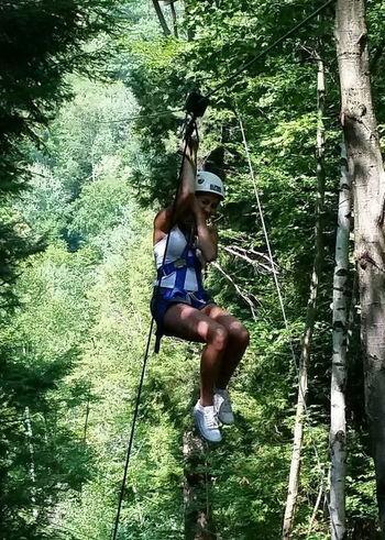 Zipline Zipline Adventure Ziplining Teenage Years Teenage Dream Teenage Girl Ziplining Over The Treeline Over The Treetops Above The Trees Mountainlove Mountains White Mountain National Forest White Mountains