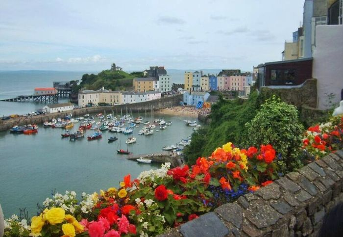 Tenby, South Wales Enjoying The View Tenby Pembrokeshire Wales Coast Beach Harbour Colourful EMCSummerViews The Essence Of Summer Colour Of Life