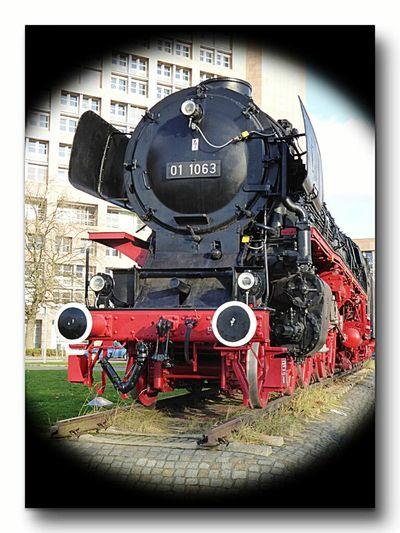 Taking Photos Lokomotive Imposante Erscheinung Prärieross Enjoying Life Nähe Bahnhof Braunschweig