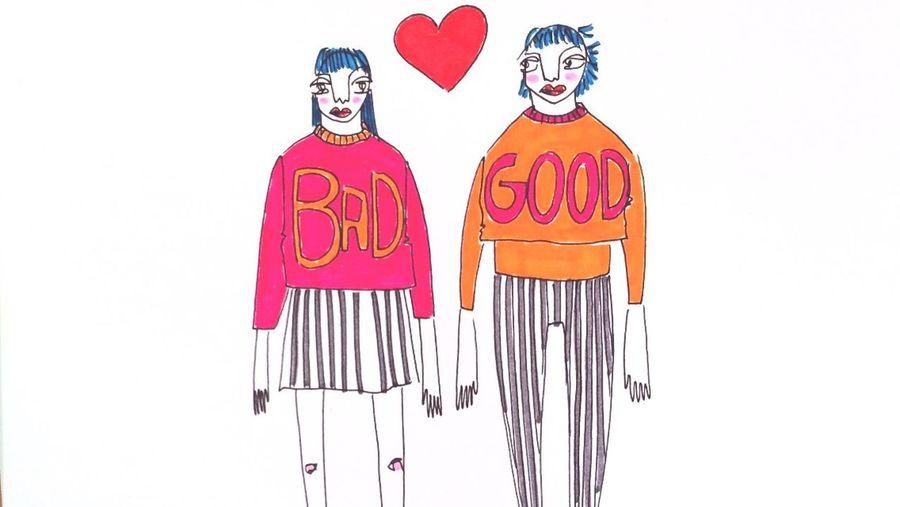 Illustration Good And Bad