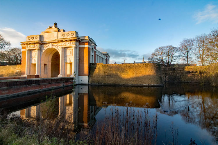 Architecture Beauty In Nature Building Exterior Built Structure Day History Menin Gate Nature No People Outdoors Reflection Sky Tree Water Ww1