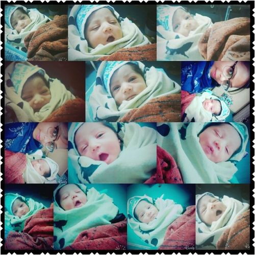 Nephew New Born Baby With Mee PhotoZz Cuttooocandy Family❤ Happiness♥ Spreadlove His Expression Face <3 Loving Him