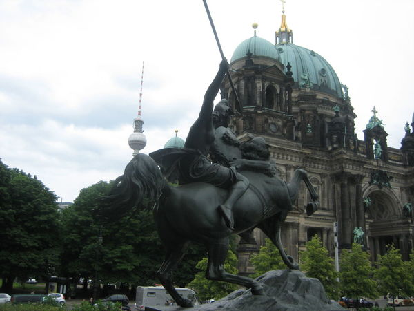Photos of Berlin, Germany 2009 Architecture Building Exterior City Cloud - Sky Day Human Representation Male Likeness No People Outdoors Sculpture Sky Statue Travel Destinations Tree