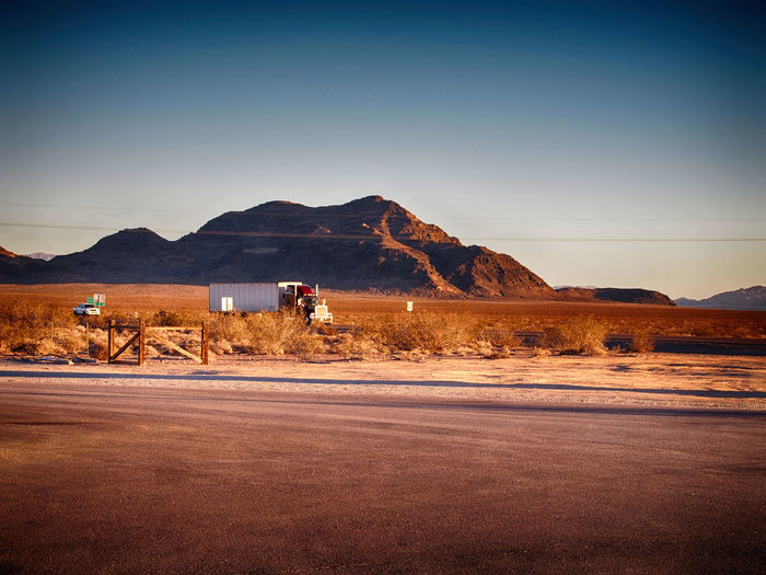 Country Road Countryside Desert Nevada Non-urban Scene Road Scenery With Truck Truck Truckinnevada Truckinus Truckonroad