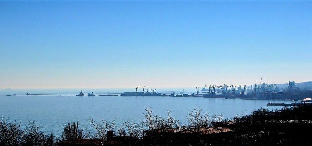 Mariupol Azov Sea Port Sea And Sky Seascape Blue HDR