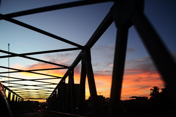 Architecture Beauty In Nature Bridge - Man Made Structure Built Structure City EyeEm Cagayan De Oro EyeEm Gallery EyeEm Nature Lover EyeEmCDO EyeemPhilippines No People Orange Color Outdoors Silhouette Sky Sunset Sunset And Sky Sunset_collection