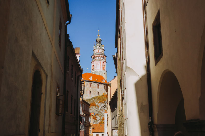 Castle Czech Republic Travel Architecture Belief Building Building Exterior Built Structure Canon Day Europe Low Angle View Place Of Worship Religion Sky Spirituality The Past Tourism Tower Travel Destinations Český Krumlov