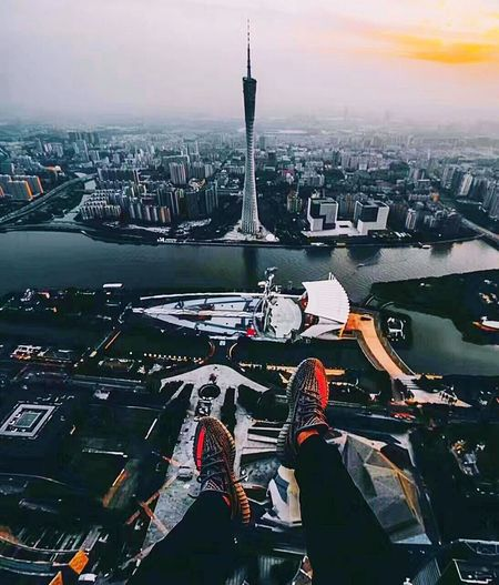 小蛮腰City Cityscape Architecture Travel Destinations Urban Skyline Skyscraper Aerial View Tourism Built Structure Tower Building Exterior Travel City Life No People Bridge - Man Made Structure Outdoors Vacations Modern Day Sky