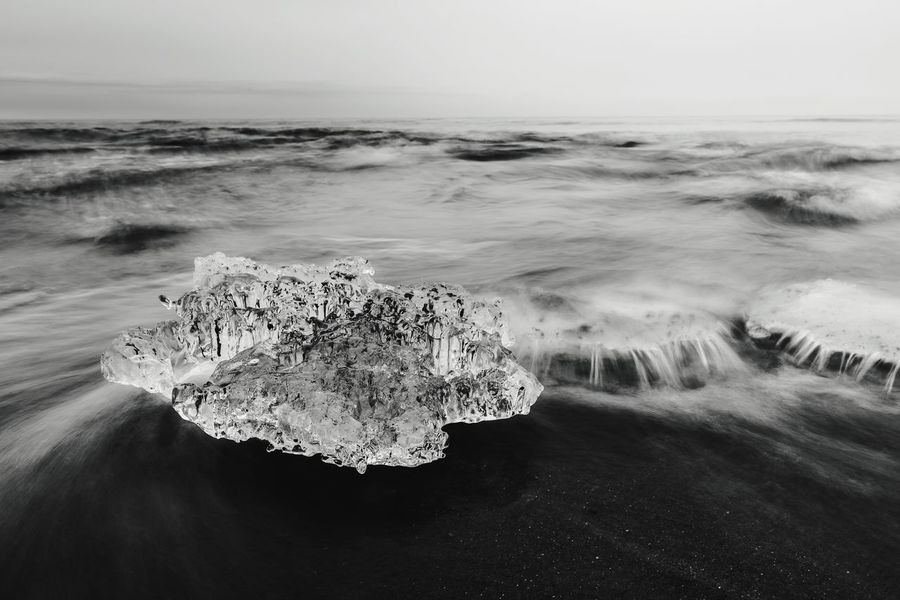 ice on the beach Waves Lake Blackandwhite Black And White Winter Ice Cold Temperature Canada Lakeshore Cold Sea Beach Heart Shape Horizon Over Water Wave Sand No People Nature Beauty In Nature Water Outdoors Day Close-up Sky