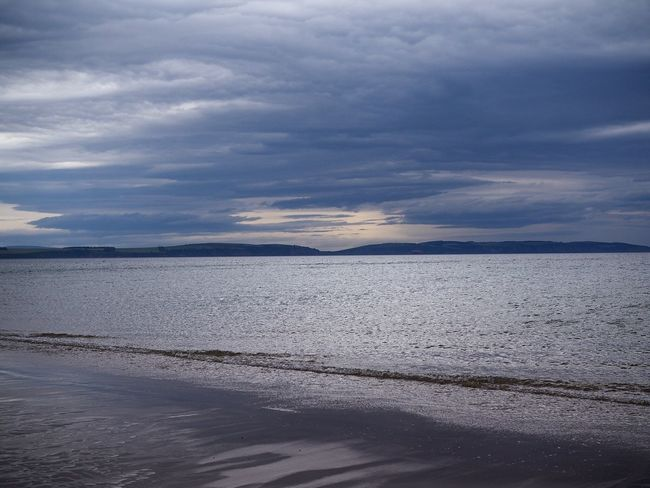 Nairn Beach Nairn Highlands Scotland Beach Sea Landscape Cloud - Sky Sunset Nature Tranquility Tranquil Scene Scenics Beauty In Nature Water Sky Outdoors Horizon Over Water Vacations Day Low Tide