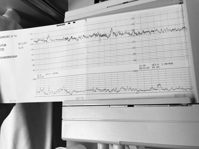 Baby Girl Maternity Ward Heart Beat Paper Text Indoors  Western Script Communication Handwriting