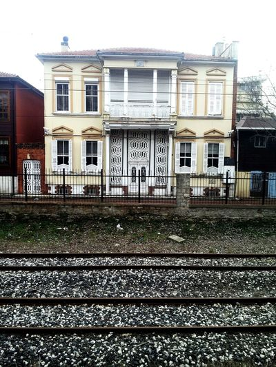 House Winter White BIG Train Train Station Home Back