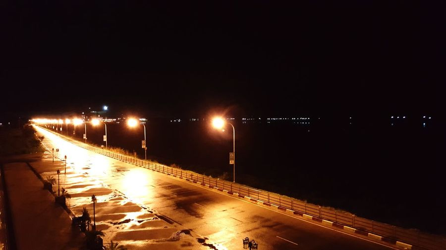 First Eyeem Photo Cities At Night Road To Nowhere Road Roadscenes Riverside