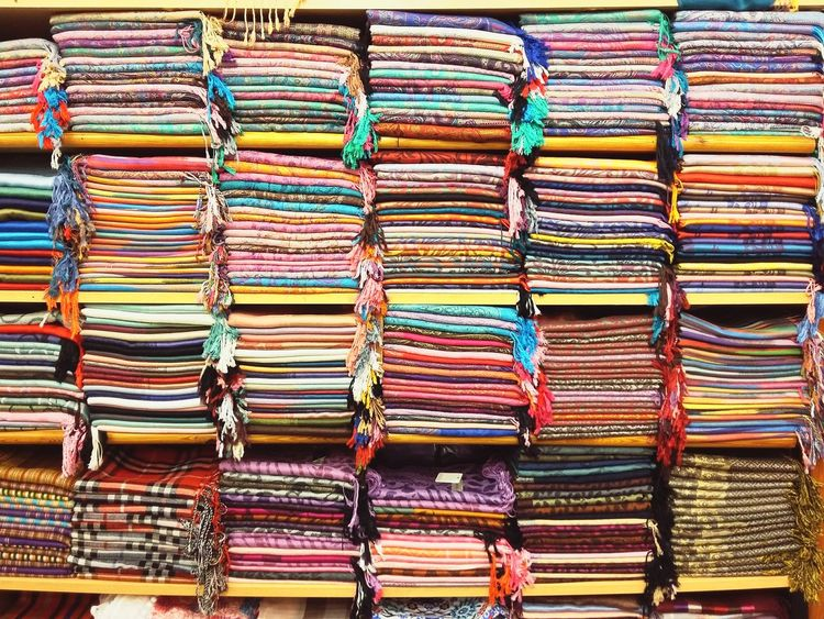 Beautifully Organized Multi Colored Variation Choice Full Frame Retail  No People Stack Textile Industry Backgrounds Large Group Of Objects Close-up Market Little Things Scarf Scarves Colors Colorful Grand Bazaar Grand Bazar Istanbul