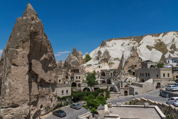 Goreme, Turkey - A Unesco World Heritage site, Goreme and its Open Air Museum are probably the most famous spots in Cappadocia. Göreme Goreme Open Air Museum Cappadocia Cappadocia/Turkey Turkey Türkiye Fairy Chimneys UNESCO World Heritage Site Unesco World Heritage Landscape Landmark Travel Destinations Travel Photography Tourist Attraction  Tourist Destination Village Cityscape Carved Stone Stone House Stone Hotel Shaped Stones Stone City