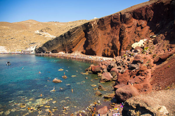 Red beach at Santorini, Greece Holiday Lost In The Landscape Red Beauty In Nature Blue Clear Sky Landscape Mountain Nature Ocks Outdoors People Red Beach Santorini Sea Sky Tranquility Travel Destinaton EyeEmNewHere