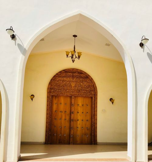 Arched Arch Darwaza Arabian Design Arab Style Arabian Door Arab Culture Arabian Persian Door Architecture Built Structure Arch Entrance Building Door Building Exterior Religion Place Of Worship Belief Lighting Equipment Spirituality Human Representation Ornate Ceiling