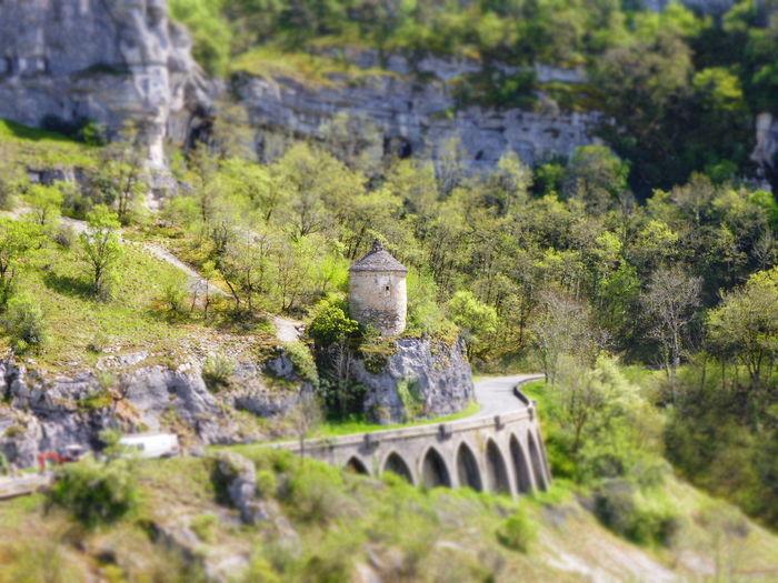Green Color Landscape Nature Stone Material Tourism Travel Destinations Tree Rocamadour France