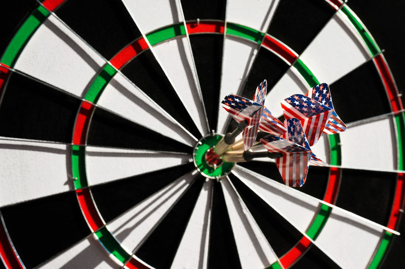 Close-Up Of Dartboard