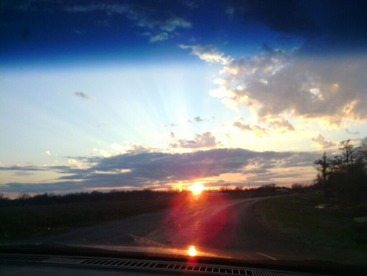 Sunset on point
