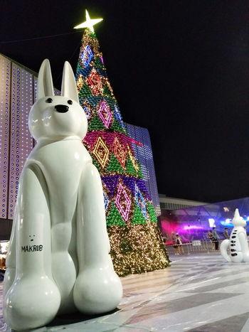 Xmas Season Christmas Night Outdoors Celebration City Skyline Doggy EyeEmNewHere
