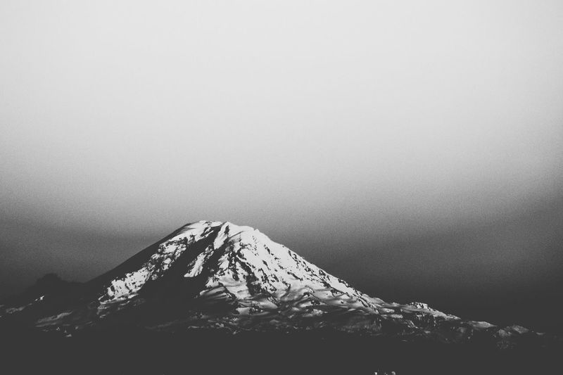 Mount Rainier Seattle Nature Black And White Monochrome Photography