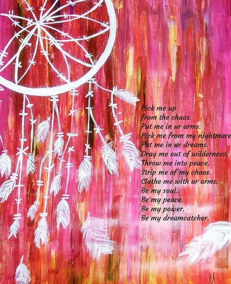 Acrylics Dreamcatcher Love Kashmir Watercolor Baramulla Backgrounds Text Full Frame Multi Colored Pattern