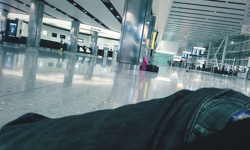 Feel The Journey Heathrow Terminal 2 2am & Sleepless Sleeping On The Floor Travelling To New Zealand