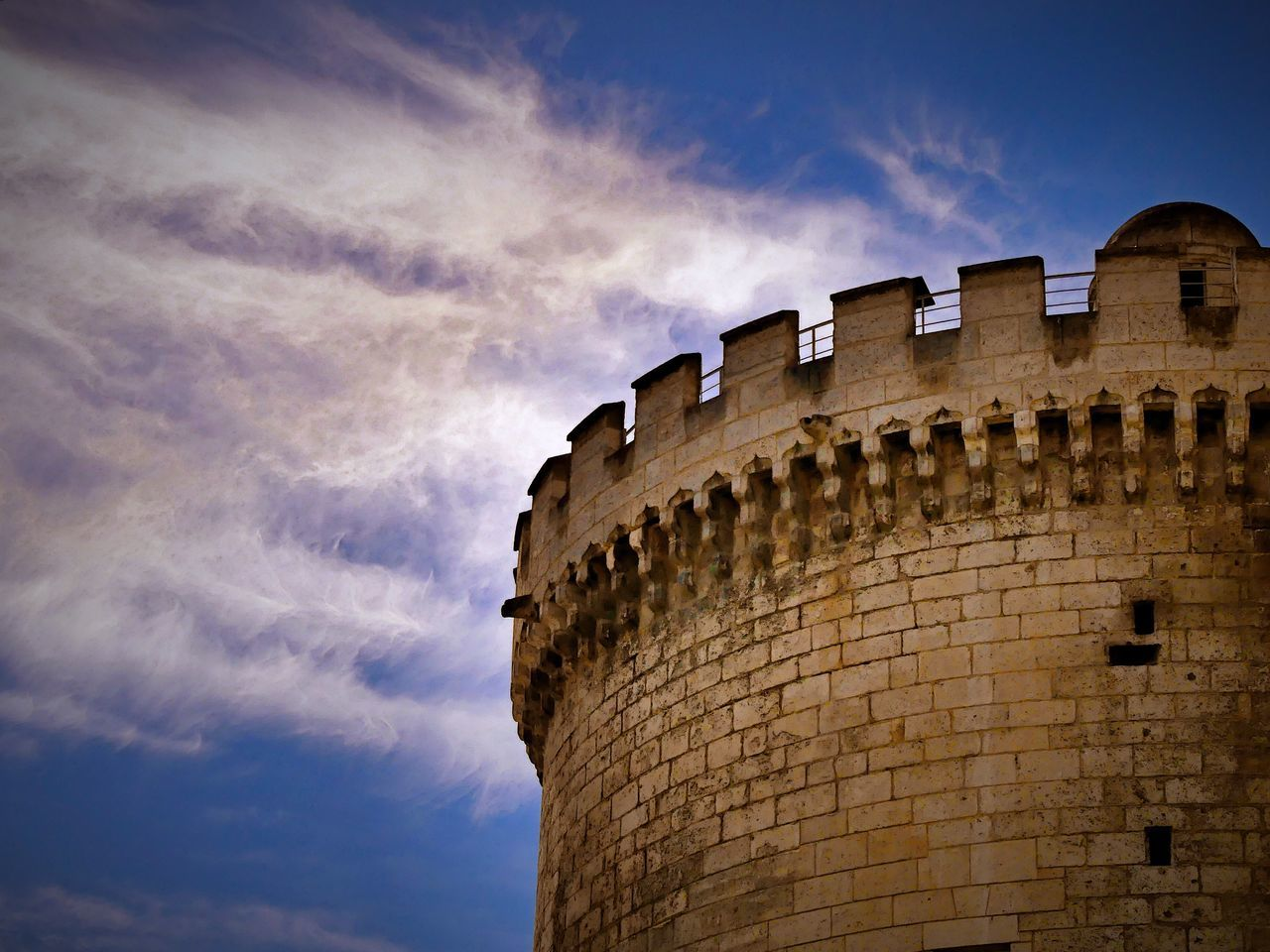 architecture, built structure, low angle view, cloud - sky, sky, history, building exterior, no people, ancient, outdoors, day