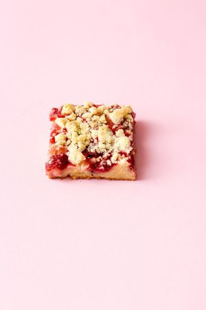 strawberry streusel cake Backbube Pink Color Sweet Food Food And Drink Food Studio Shot Sweet Indulgence Indoors  Cake Cut Out Baked Dessert