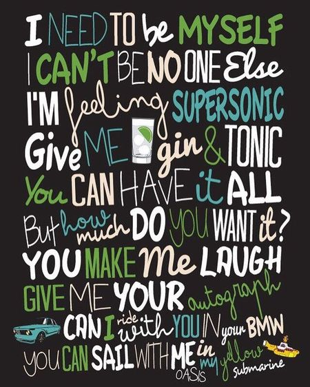We do #Typography too, They look great on #Canvas we do A4-A0 Pukkaprintgifts@gmail.com Message Us! #Oasis Oasis