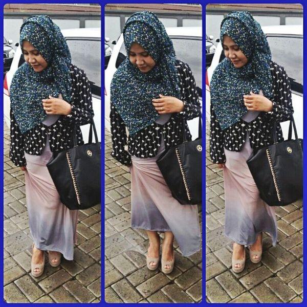 Late post Ootd Fashion Jilbab Hijabchic hijabstyle shoes bellagio bag bellagio