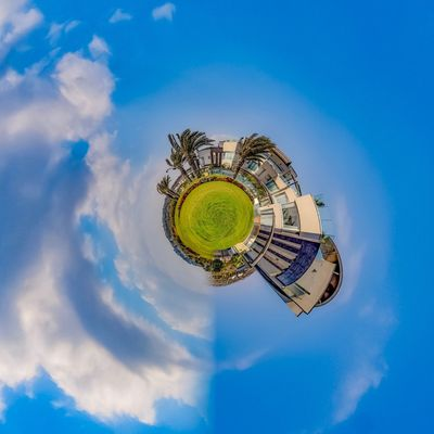 3XSPUnity EyeEm Best Shots Enjoying Life EyeEmNewHere Cloud - Sky Sky Blue Nature Digital Composite No People Fish-eye Lens Distorted Image Outdoors Low Angle View Day Architecture Single Object Circle Building Shape Building Exterior Planet Earth Geometric Shape