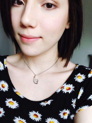Got a hair cut :) Necklace Short Hair Catlover Bored Manga Otaku Anime Flowers Kawaii?