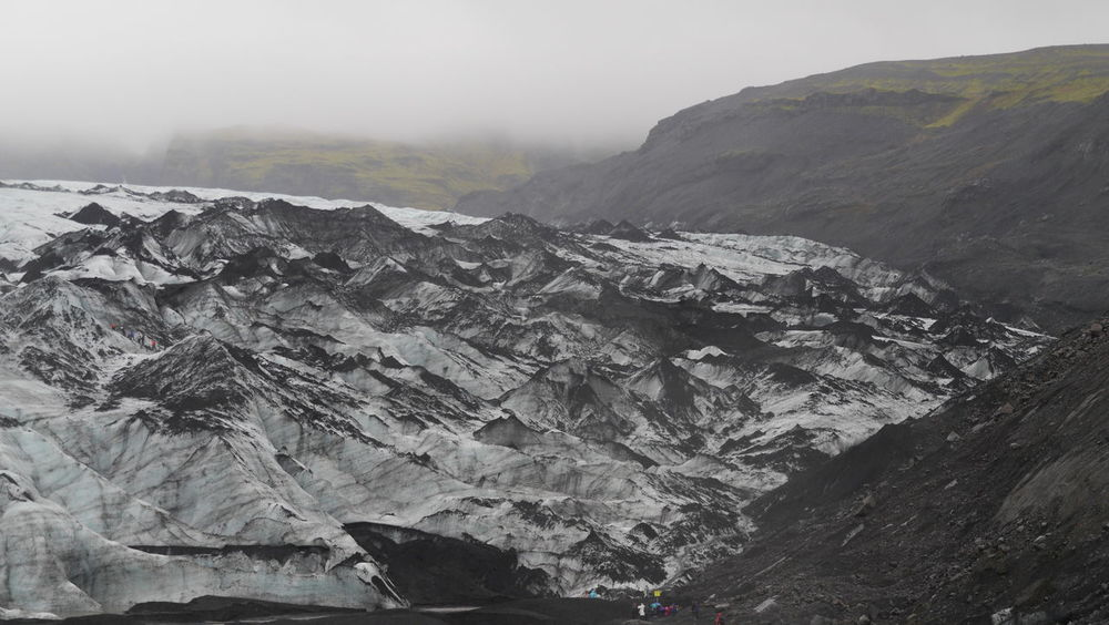 A small glacier I visited while in Iceland beauty in Iceland Beauty In Nature Cold Cold Temperature Day Extreme Terrain Foggy Frozen Frozen Nature Glacier Iceland Iceland Memories Iceland Trip Landscape Mist Mountain Nature No People Outdoors Scenics