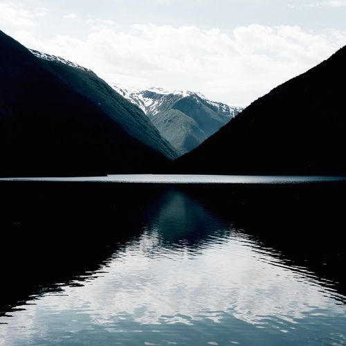 Lake View. Water Lake Beauty In Nature Mountain Nature Reflection Scenics No People Tranquility Outdoors Tranquil Scene Sky Norway årdal Scandinavia
