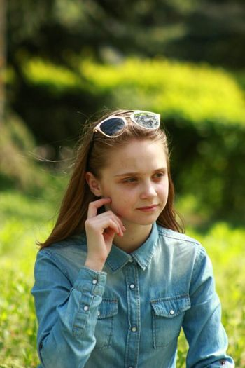 Sunglasses People One Person Day Outdoors Casual Clothing Beauty Child Nature Young Adult Portrait Childhood Girl Green Dark Naturephotography Girl Swagg ♥ Nofilter Teenager Happiness Green Color