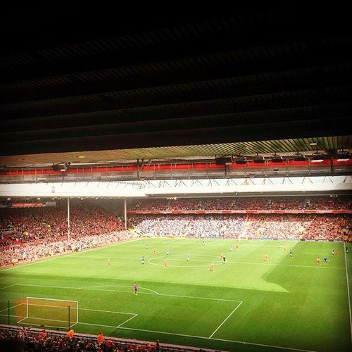 The Merseyside Derby! Liverpool 1-1 Everton. Gerrard Weareliverpool WEGOAGAIN MakeUsDream Kop LFC EFC